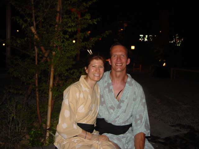 "ALT =[""Dr. Jolie Bookspan: WIth husband Paul while studying martial arts in Japan""]"